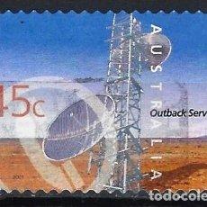 Sellos: AUSTRALIA 2001 - SERVICIOS INTERNOS, TORRE DE TELECOMNICACIONES - SELLO USADO ADHESIVO. Lote 211790381