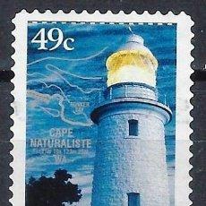 Sellos: AUSTRALIA 2002 - FAROS, CABO NATURALISTA. AUSTRALIA OCCIDENTAL - SELLO USADO ADHESIVO. Lote 211792416