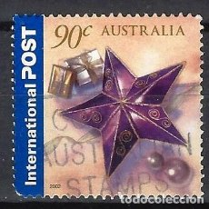 Sellos: AUSTRALIA 2002 - SALUDOS, PERSONALIZADOS - SELLO USADO. Lote 211793861