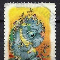 Sellos: AUSTRALIA 2002 - EL BOSQUE MÁGICO, CRIATURAS MITICAS,BUNYIP - SELLO USADO ADHESIVO. Lote 211794293