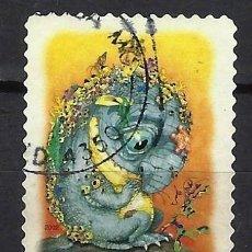 Sellos: AUSTRALIA 2002 - EL BOSQUE MÁGICO, CRIATURAS MITICAS,BUNYIP - SELLO USADO ADHESIVO. Lote 211794328