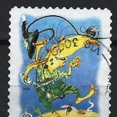 Sellos: AUSTRALIA 2002 - EL BOSQUE MÁGICO, CRIATURAS MITICAS, ENCANTADOR - SELLO USADO ADHESIVO. Lote 211794433