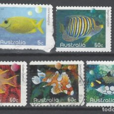 Sellos: AUSTRALIA 2010 - PECES, S.COMPLETA - SELLOS USADOS ADHESIVOS. Lote 212144383