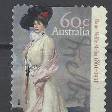 Sellos: AUSTRALIA 2011 - 150º ANIV. DEL NACIMIENTO DAMA NELLIE MELBA - SELLO USADO ADHESIVO. Lote 212157675