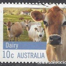 Sellos: AUSTRALIA 2012 - GANADERÍA, LECHERÍA - SELLO USADO. Lote 212159838