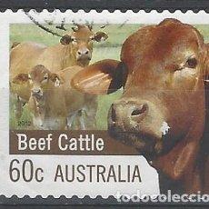 Sellos: AUSTRALIA 2012 - GANADERÍA Y AGRICULTURA, GANADO VACUNO - SELLO USADO ADHESIVO. Lote 212160335