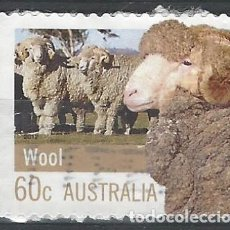 Sellos: AUSTRALIA 2012 - GANADERÍA Y AGRICULTURA, GANADO LANAR - SELLO USADO ADHESIVO CON PAPEL. Lote 212160428