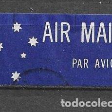 Sellos: AUSTRALIA, ETIQUETA DE CORREO AÉREO, USADO. Lote 212865507