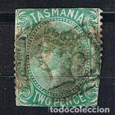 Sellos: SELLO ANTIGUO TASMANIA AUSTRALIA 1871-1876 REINA VICTORIA TWO PENCE. Lote 212855581