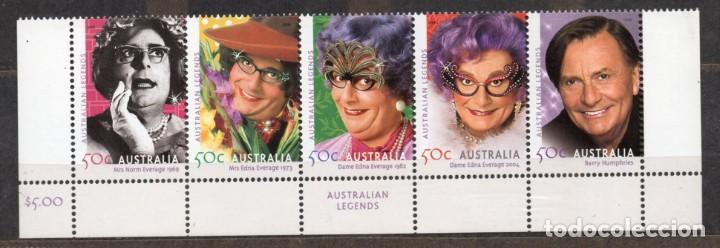 AUSTRALIA/2006/MNH/SC# 2476-80/ BARRY HUMPHRIES / DAME EDNA EVERAGE / LEGENDAS AUSTRALIANAS (Sellos - Extranjero - Oceanía - Australia)