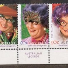 Sellos: AUSTRALIA/2006/MNH/SC# 2476-80/ BARRY HUMPHRIES / DAME EDNA EVERAGE / LEGENDAS AUSTRALIANAS. Lote 213456146