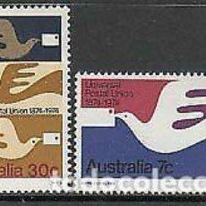Sellos: AUSTRALIA 1974 IVERT 542/3 *** CENTENARIO DE LA UNIÓN POSTAL UNIVERSAL - U.P.U.. Lote 215011892