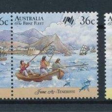 Sellos: AUSTRALIA 1987 IVERT 1004/6 *** BICENTENARIO DE LOS PRIMEROS COLONOS EN AUSTRALIA. Lote 215013192