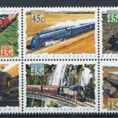 Sellos: AUSTRALIA 1993 IVERT 1306/1 *** TRENES DE AUSTRALIA - LOCOMOTORAS DE VAPOR Y DIESEL. Lote 215021480