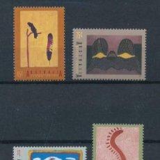 Sellos: AUSTRALIA 1993 IVERT 1318/21 *** ARTE ABORIGEN - CUADROS DE ARTISTAS AUSTRALIANOS. Lote 215021646