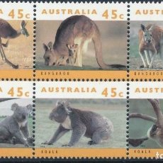 Sellos: AUSTRALIA 1994 IVERT 1362/7 *** FAUNA SALVAJE DE AUSTRALIA (IV). Lote 215021951