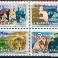 Sellos: AUSTRALIA 1999 IVERT 1761A/D *** 50º ANIVERSARIO DEL COMPLEJO HIDROELÉCTRICO SNOWY MOUNTAINS SCHEME. Lote 215081418