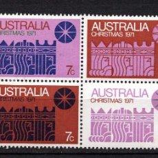 Sellos: AUSTRALIA 450/56* - AÑO 1971 - NAVIDAD. Lote 217007267