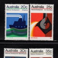 Sellos: AUSTRALIA 491/94** - AÑO 1973 - DESARROLLO NACIONAL - INDUSTRIA - CAMIONES - BARCOS - AVIONES. Lote 217008107