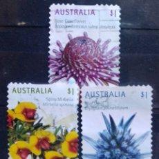 Sellos: AUSTRALIA FLORES SERIE DE SELLOS USADOS. Lote 217140248
