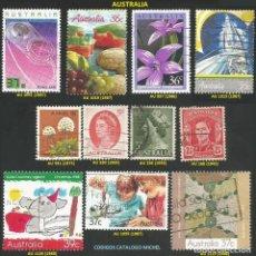 Sellos: AUSTRALIA 1942 A 1988 - LOTE VARIADO (VER IMAGEN) - 11 SELLOS USADOS. Lote 217993610