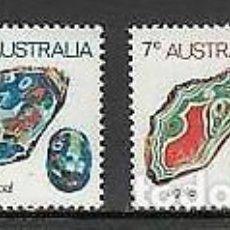 Sellos: AUSTRALIA 1973 IVERT 503/6 *** SERIE BÁSICA - MINERALES. Lote 218608818