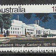 Sellos: AUSTRALIA 1977 IVERT 620 *** 50º ANIVERSARIO INAUGURACIÓN DEL EDIFICIO DEL PARLAMENTO EN CAMBERRA. Lote 218610415