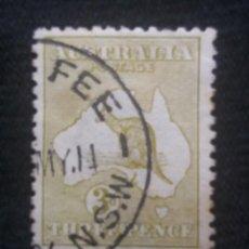 Sellos: AUSTRALIA, 3D, CAGURO, AÑO 1913.. Lote 219898417