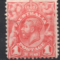 Sellos: AUSTRALIA/1913/MH/SC#17/ REY JORGE V / REALIZA / 1P. CARMINE. Lote 220608233