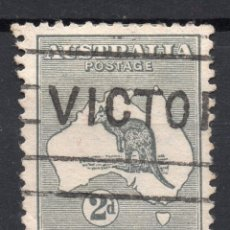 Sellos: AUSTRALIA/1913/USED/SC#3/ CANGURO Y MAPA, 2P GRAY, WMK 8. Lote 220608487