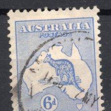 Sellos: AUSTRALIA/1915/USED/SC#40/ CANGURO Y MAPA, 6P ULTRA, WMK 9. Lote 220608570