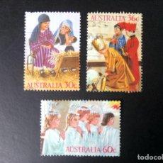 Sellos: AUSTRALIA 1986, NAVIDAD, YT 981/983. Lote 221774587