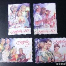 Sellos: AUSTRALIA 1987, NAVIDAD, YT 1033.34,1038.39. Lote 221777791