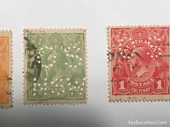 Sellos: Rey Jorge V 1914 - 1931 - LOTE 8 SELLOS USADOS - Foto 3 - 221830422