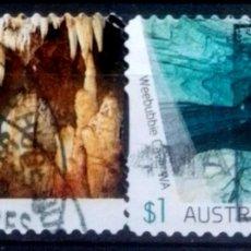 Francobolli: AUSTRALIA CUEVAS LOCALES SERIE DE SELLOS USADOS. Lote 221983590