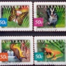 Sellos: AUSTRALIA FAUNA SERIE DE SELLOS USADOS TIPO B. Lote 222407880