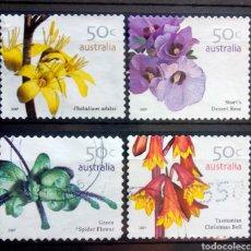 Timbres: AUSTRALIA 2007 FLORES SERIE DE SELLOS USADOS. Lote 222636131