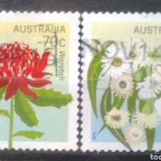 Timbres: AUSTRALIA 2014 FLORES SERIE DE SELLOS USADOS. Lote 222648631