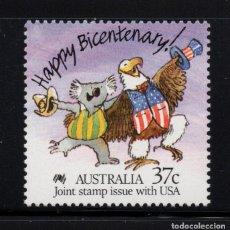 Sellos: AUSTRALIA 1050** - AÑO 1988 - BICENTENARIO DE LOS PRIMEROS COLONOS EN AUSTRALIA. Lote 268173214