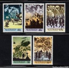 Francobolli: AUSTRALIA 1155/59** - AÑO 1990 - TRADICION ANZAC - PRIMERA GUERRA MUNDIAL. Lote 227872335