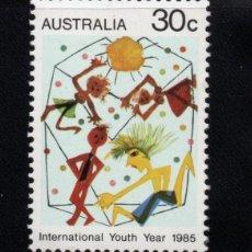 Sellos: AUSTRALIA 892** - AÑO 1985 - AÑO INTERNACIONAL DE LA JUVENTUD. Lote 228168590