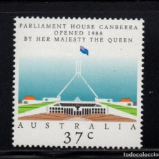 Sellos: AUSTRALIA 1084** - AÑO 1988 - INAUGURACION DEL PARLAMENTO DE CAMBERRA. Lote 228171255