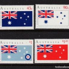 Sellos: AUSTRALIA 1195/98** - AÑO 1991 - DÍA NACIONAL - BANDERAS. Lote 228172390