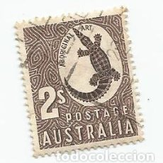Sellos: SELLO USADO DE AUSTRALIA DE 1948- ARTE ABORIGEN COCODRILO - YVERT 160- VALOR 2 CHELINES. Lote 229571260