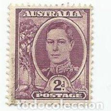 Sellos: 2 SELLOS USADOS DE AUSTRALIA DE 1948- REY JORGE VI- YVERT 163C- VALOR 2 PENIQUES- VARIANTE. Lote 229575105