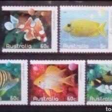 Sellos: AUSTRALIA PECES EXÓTICOS SERIE DE SELLOS USADOS. Lote 236281280