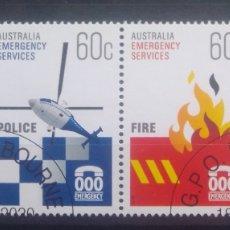 Sellos: AUSTRALIA SERVICIOS DE EMERGENCIA SERIE DE SELLOS USADOS. Lote 236281515