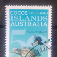 Sellos: AUSTRALIA ISLAS COCOS 2013 TORTUGAS MARINAS SELLO USADO. Lote 236310970