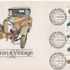 Francobolli: SOBRE PRIMER DIA AUSTRALIA 1984 TEMA COCHES. Lote 240337610