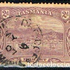Sellos: TASMANIA (ESTADO DE AUSTRALIA) Nº 78, VISTA DE HOBART, USADO. Lote 241028500